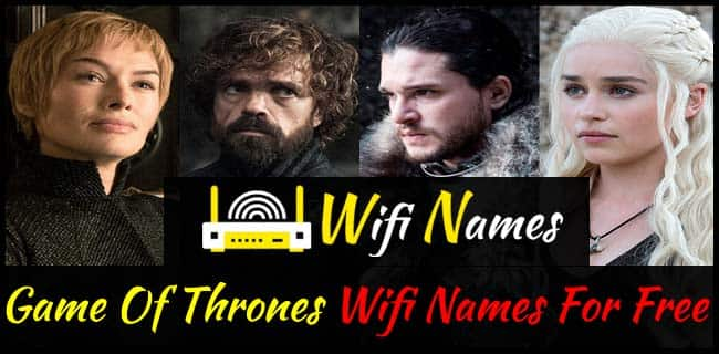 Game of Throne Wifi Names